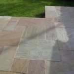 Natural Stone Patio After Sealed