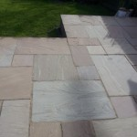Natural Stone Patio Before Sealed