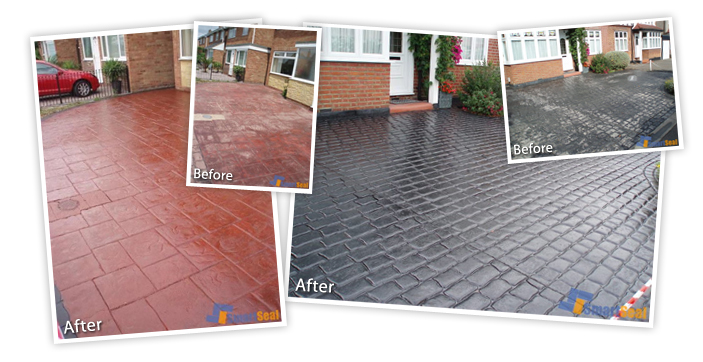 Imprinted Concrete Cleaning And Sealing Cardiff South